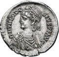 Ancients:Roman Imperial, Ancients: Theodosius II, Eastern Roman Emperor (AD 402-450). ARlight miliarense (23mm, 4.22 gm, 12h). About Uncirculated....