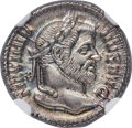 Ancients:Roman Imperial, Ancients: Maximian, first reign (AD 286-305). AR argenteus (19mm,3.04 gm, 12h). NGC Gem MS 5/5 - 5/5....