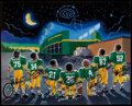 """Football Collectibles:Others, 1995 Green Bay """"Packer Babies"""" Multi-Signed Print...."""