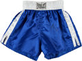 Boxing Collectibles:Autographs, 1990's Riddick Bowe Fight/Training Worn, Signed Trunks...