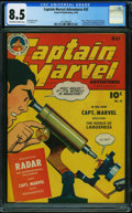Golden Age (1938-1955):Superhero, Captain Marvel Adventures #35 (Fawcett Publications, 1944) CGC VF+ 8.5 OFF-WHITE TO WHITE pages.