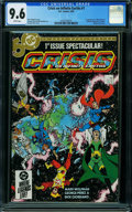 Modern Age (1980-Present):Superhero, Crisis on Infinite Earths #1 (DC, 1985) CGC NM+ 9.6 WHITE pages.