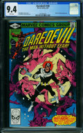 Modern Age (1980-Present):Superhero, Daredevil #169 (Marvel, 1981) CGC NM 9.4 WHITE pages.