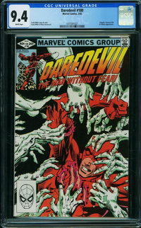Daredevil #180 (Marvel, 1982) CGC NM 9.4 WHITE pages