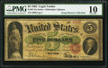 Large Size:Legal Tender Notes, Fr. 61 $5 1862 Legal Tender PMG Very Good 10.. ...
