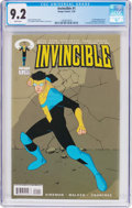 Modern Age (1980-Present):Superhero, Invincible #1 (Image, 2003) CGC NM- 9.2 White pages....