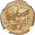 Ancients:Greek, Ancients: MACEDONIAN KINGDOM. Alexander III the Great (336-323 BC).AV stater (18mm, 8.60 gm, 9h). NGC Choice AU ★ 5/5 - 5/5....