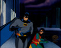 Animation Art:Production Cel, Batman: The Animated Series Batman and Robin Production Cel(Warner Brothers, 1994)....