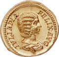 Ancients:Roman Imperial, Ancients: Julia Domna (Augusta, AD 193-217). AV aureus (21mm, 7.25 gm, 12h). NGC Choice MS 5/5 - 5/5....