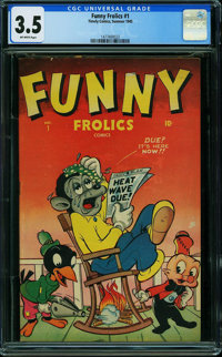 Funny Frolics #1 (Timely, 1945) CGC VG- 3.5 OFF-WHITE pages