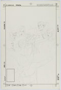 Original Comic Art:Covers, Rick Hoberg All-Star Squadron #38 Cover Preliminary OriginalArt (DC, 1984)....