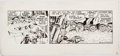 Original Comic Art:Comic Strip Art, Rick Hoberg and Dave Stevens Star Wars Boba Fett Daily ComicStrip Art dated 7-24-80 (L.A. Times Syndicate, 1980)....