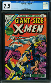 Giant-Size X-Men #2 (Marvel, 1975) CGC VF- 7.5 OFF-WHITE TO WHITE pages