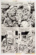 Original Comic Art:Panel Pages, Jack Kirby and Frank Giacoia Captain America #201 Story Page3 Original Art (Marvel, 1976)....