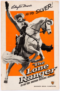 Lone Ranger Campaign Book Signed by Clayton Moore (Warner Brothers, 1956)