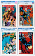 Modern Age (1980-Present):Superhero, Detective Comics CGC-Graded Group of 6 (DC, 1986-93) CGC NM/MT 9.8except as noted.... (Total: 6 Comic Books)