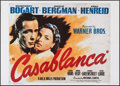 "Movie Posters:Academy Award Winners, Casablanca (SAC, R-1980s). Commercial Horizontal Italian 2 - Fogli(39.25"" X 55"").. ..."