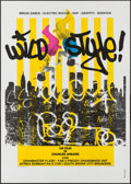 """Movie Posters:Musical, Wild Style (First Run Features, 1984). Italian 4 - Fogli (55.25"""" X 78.5""""). Musical.. ..."""