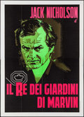 """Movie Posters:Crime, The King of Marvin Gardens (Columbia, 1976). First Release Italian4 - Fogli (55"""" X 78""""). Crime.. ..."""