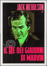 "The King of Marvin Gardens (Columbia, 1976). First Release Italian 4 - Fogli (55"" X 78""). Crime"