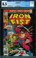 Bronze Age (1970-1979):Superhero, Iron Fist #7 (Marvel, 1976) CGC VF+ 8.5 WHITE pages.