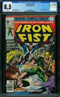 Bronze Age (1970-1979):Superhero, Iron Fist #13 (Marvel, 1977) CGC VF+ 8.5 WHITE pages.
