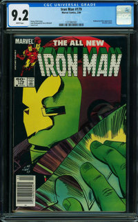 Iron Man #179 (Marvel, 1984) CGC NM- 9.2 WHITE pages