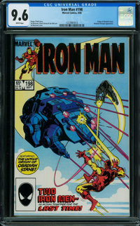 Iron Man #198 (Marvel, 1985) CGC NM+ 9.6 WHITE pages
