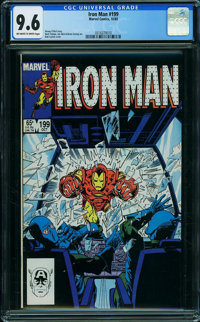 Iron Man #199 (Marvel, 1985) CGC NM+ 9.6 OFF-WHITE TO WHITE pages