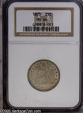 Seated Quarters: , 1875 25C MS64 NGC. Type One Reverse. A light tan patina rests overmuch of the coin, with shades of olive and gold toning o...