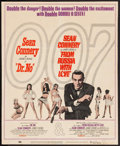 "Movie Posters:James Bond, Dr. No/From Russia with Love Combo (United Artists, R-1965).Trimmed Window Card (13.5"" X 16.5""). James Bond.. ..."