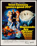 "Movie Posters:James Bond, Diamonds are Forever (United Artists, 1971). Trimmed Window Card (14"" X 17.5""). James Bond.. ..."