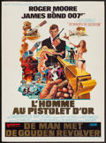 """Movie Posters:James Bond, The Man with the Golden Gun (United Artists, 1974). Trimmed Belgian (14"""" X 19""""). James Bond.. ..."""