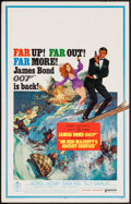 "Movie Posters:James Bond, On Her Majesty's Secret Service (United Artists, 1970). Window Card (14"" X 22""). James Bond.. ..."