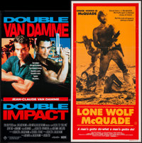 """Double Impact & Other Lot (Hoyts, 1991). Australian Daybills (2) (13"""" X 30""""). Action. ... (Total: 2 Items)"""
