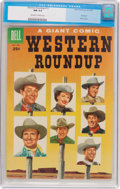 Golden Age (1938-1955):Western, Dell Giant Comics: Western Roundup #12 (Dell, 1955) CGC NM 9.4Off-white to white pages....