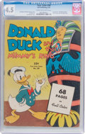 Golden Age (1938-1955):Cartoon Character, Four Color #29 Donald Duck (Dell, 1943) CGC VG+ 4.5 Cream tooff-white pages....