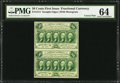Fractional Currency:First Issue, Fr. 1312 50¢ First Issue Uncut Vertical Pair PMG ChoiceUncirculated 64.. ...