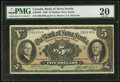 Canadian Currency: , Halifax, NS- Bank of Nova Scotia $5 Jan. 2, 1929 Ch. # 550-34-02....