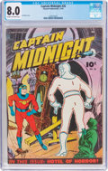 Golden Age (1938-1955):Superhero, Captain Midnight #26 (Fawcett Publications, 1944) CGC VF 8.0 Cream to off-white pages....