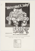 Memorabilia:Movie-Related, Fritz the Cat Ad Campaign Press Book (Ralph Bakshi/SteveKranz Productions, 1972)....