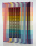 Fine Art - Work on Paper:Print, Yaacov Agam (b. 1928). The Agam Torah, book, 1992. 3Dpolymorph covered hardback book. 11 x 9 x 2 inches (27.9 x 22.9 x...