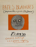 Fine Art - Work on Paper:Print, Pablo Picasso (1881-1973). Pates blanches, 1958. Offsetlithograph in colors on paper. 25-1/2 x 19-3/4 inches (64.8 x 50...
