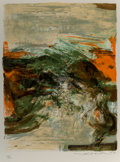 Fine Art - Work on Paper:Print, Zao Wou-Ki (1921-2013). Untitled, from Portfolio 12thAnniversary og Galeria Joan Prats, 1978. Lithograph in colors...