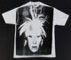 Andy Warhol (1928-1987) Self-Portrait with Fright Wig, circa 1986 Silkscreen in black on (XXL) T-shirt 33 x 40-1/2 in