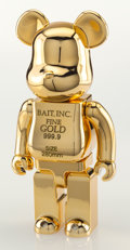 General Americana, BE@RBRICK X BAIT. Gold Bar 400%, 2017. Chromed cast vinyl.11-1/2 x 9 x 4-1/4 inches (29.2 x 22.9 x 10.8 cm) (box). Prod...