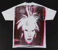 Fine Art - Work on Paper:Print, Andy Warhol (1928-1987). Self-Portrait with Fright Wig,circa 1986. Silkscreen in colors on cotton (XXL) T-shirt. 33-1/2...