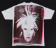 Andy Warhol (1928-1987) Self-Portrait with Fright Wig, circa 1986 Silkscreen in colors on cotton (XXL) T-shirt 33-1/2