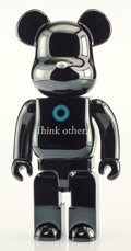 Collectible, BE@RBRICK X I AM OTHER. Think Other 400% (Black), 2017. Painted cast vinyl. 11-1/2 x 6 x 4-1/4 inches (29.2 x 15.2 x 10....