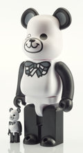 General Americana, BE@RBRICK X Fragment Design. Freemasonry, 400% and 100%(White) (two works), 2017. Painted cast vinyl. 11-3/4 x 8 in...(Total: 2 Items)